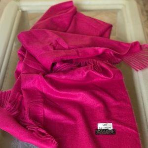 Cashmere Scarf hot pink : super long